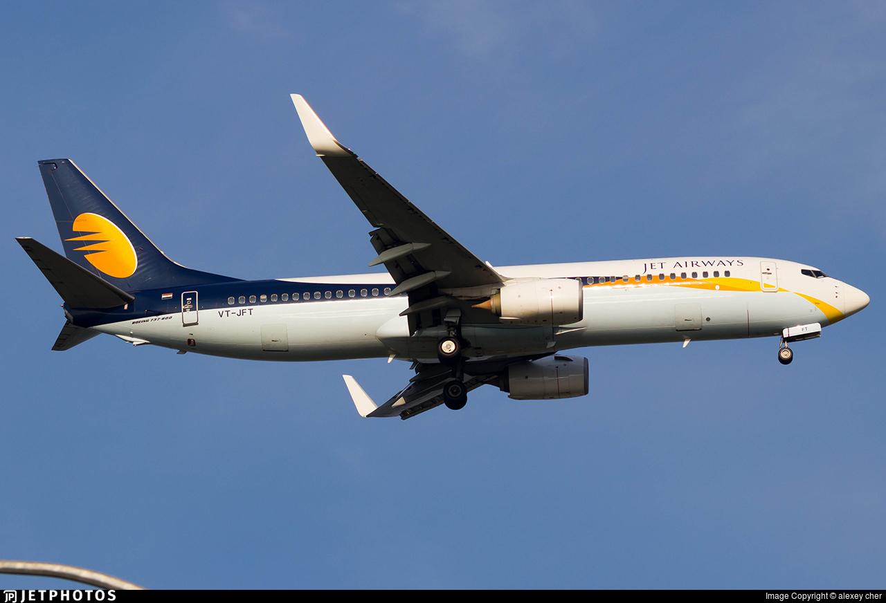 VT-JFT - Boeing 737-8AL - Jet Airways