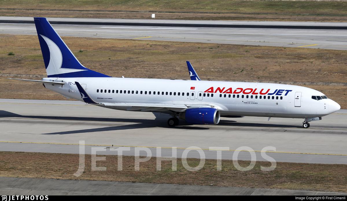 TC-JFO - Boeing 737-8F2 - AnadoluJet