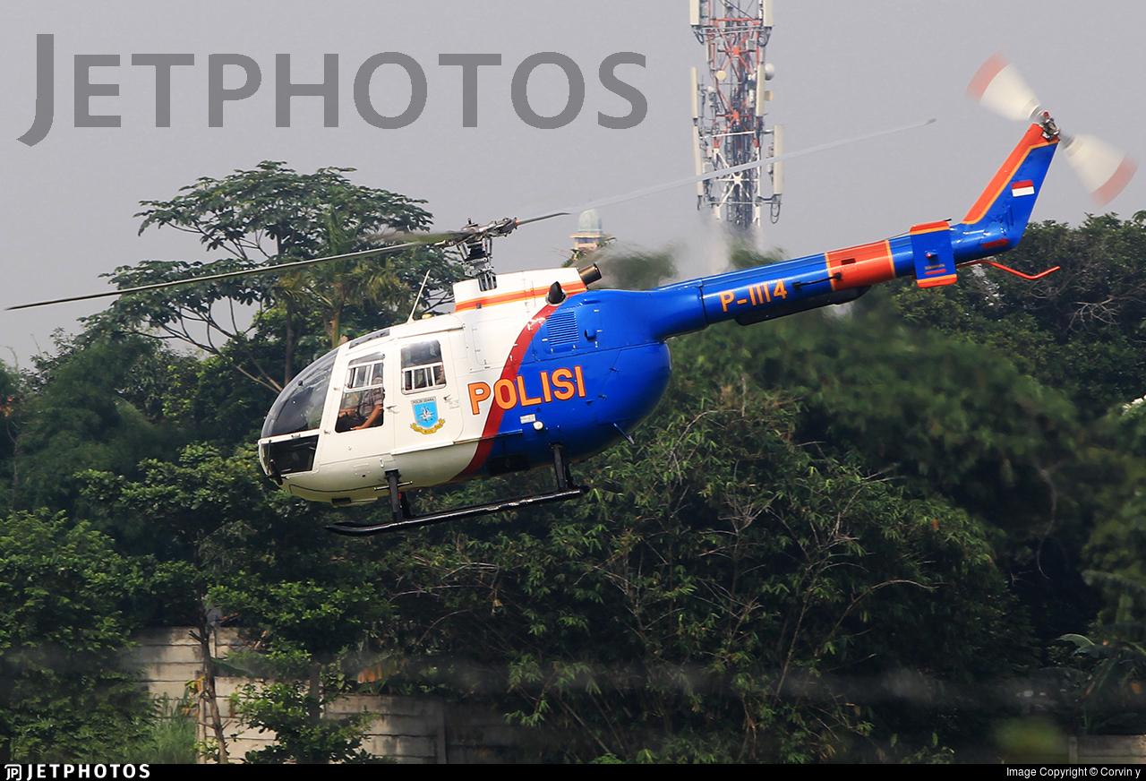 P-1114 - MBB Bo105CB - Indonesia - Police