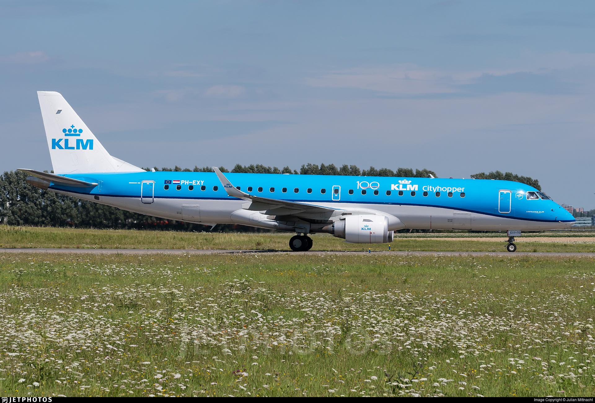 PH-EXY - Embraer 190-100STD - KLM Cityhopper