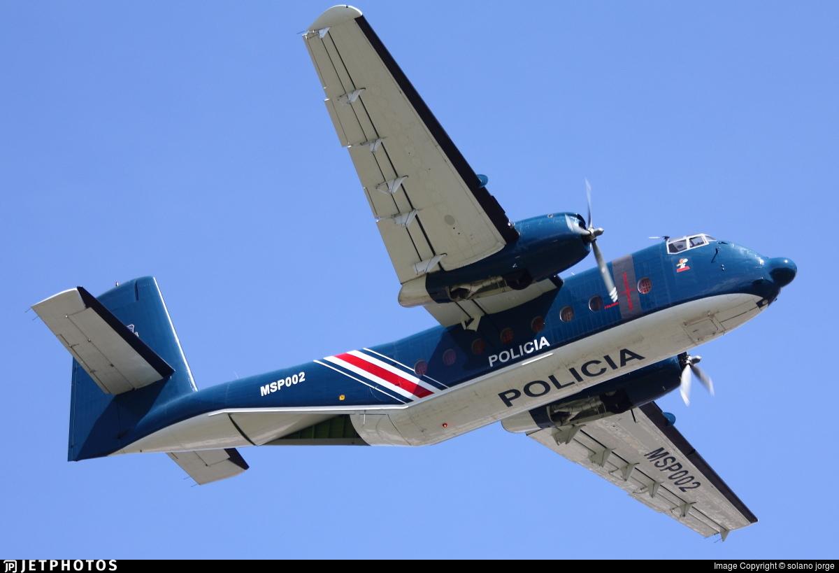 MSP002 - De Havilland Canada C-7A Caribou - Costa Rica - Ministry of Public Security