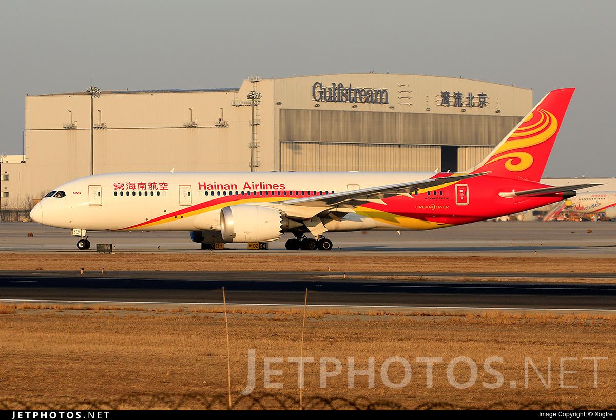 B-2759 - Boeing 787-8 Dreamliner - Hainan Airlines