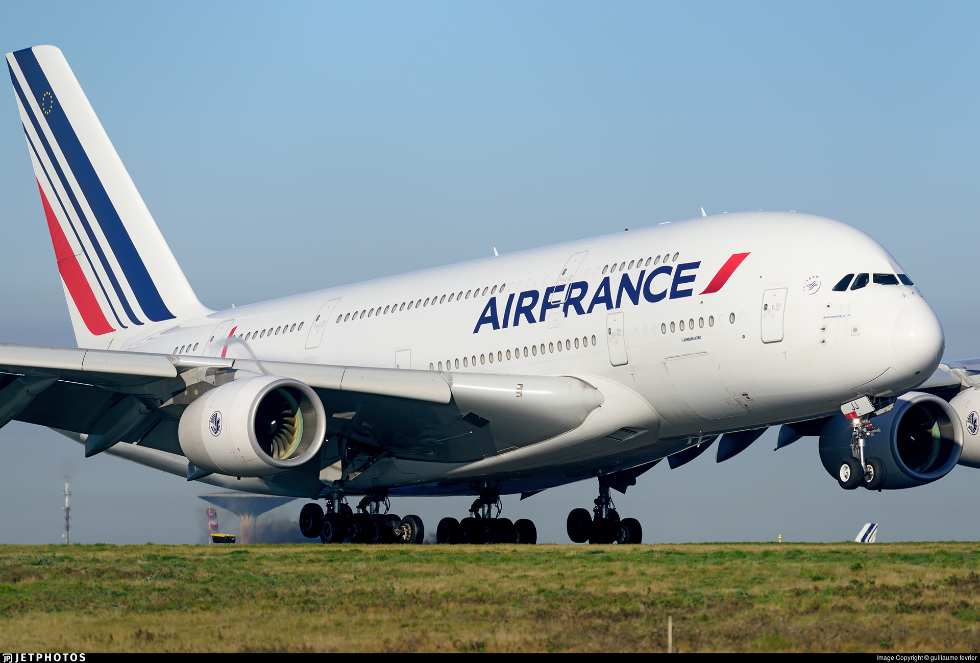 F hpjj airbus a380 861 air france guillaume fevrier for A380 air france interieur