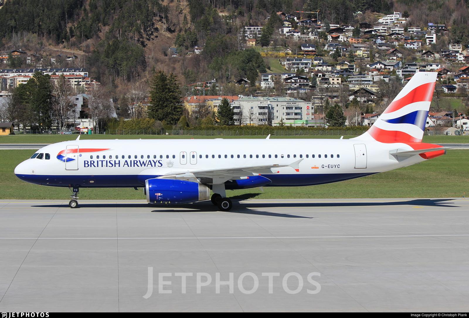 G-EUYC - Airbus A320-232 - British Airways