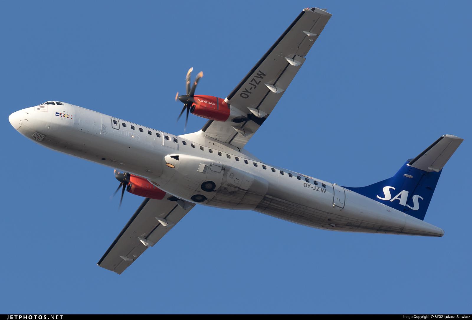 OY-JZW - ATR 72-212A(500) - Scandinavian Airlines (Jettime)
