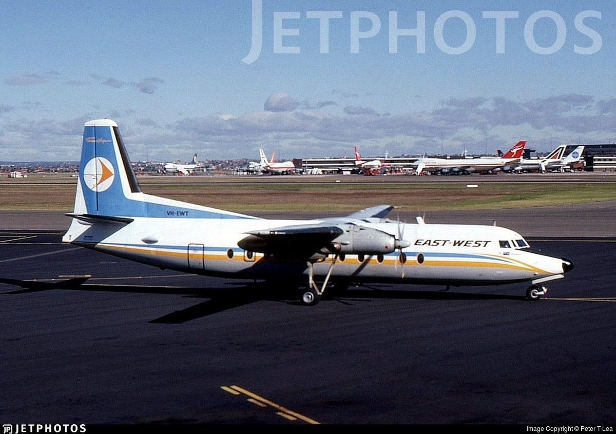 VH-EWT - Fokker F27-500 Friendship - East West Airlines