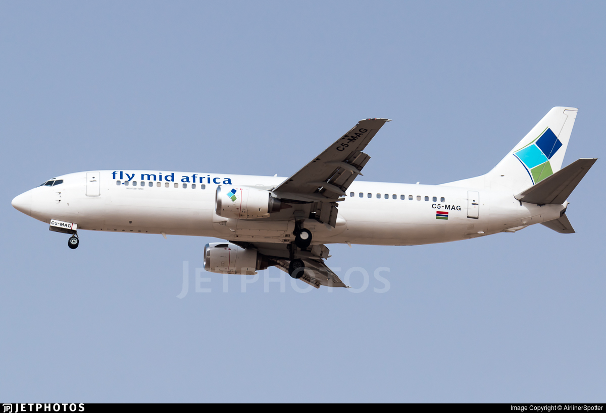 C5-MAG - Boeing 737-4H6 - Fly Mid Africa