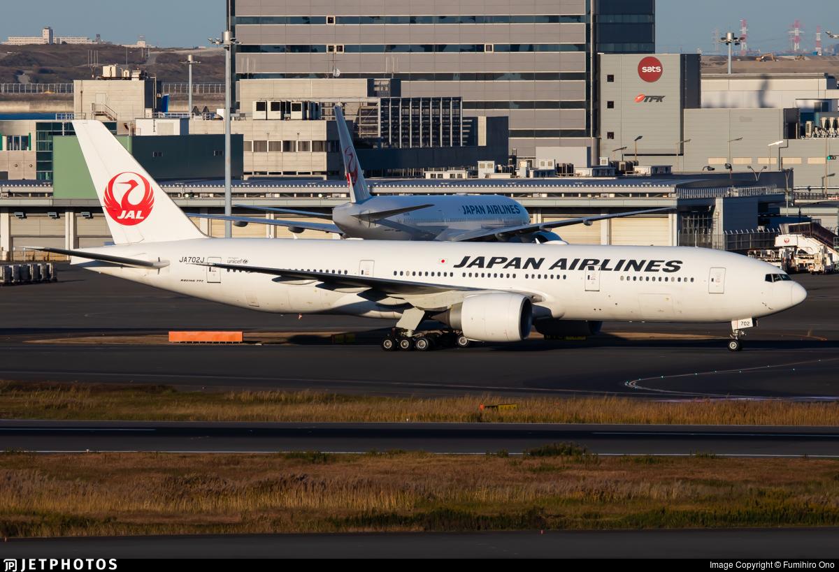 JA702J - Boeing 777-246(ER) - Japan Airlines (JAL)