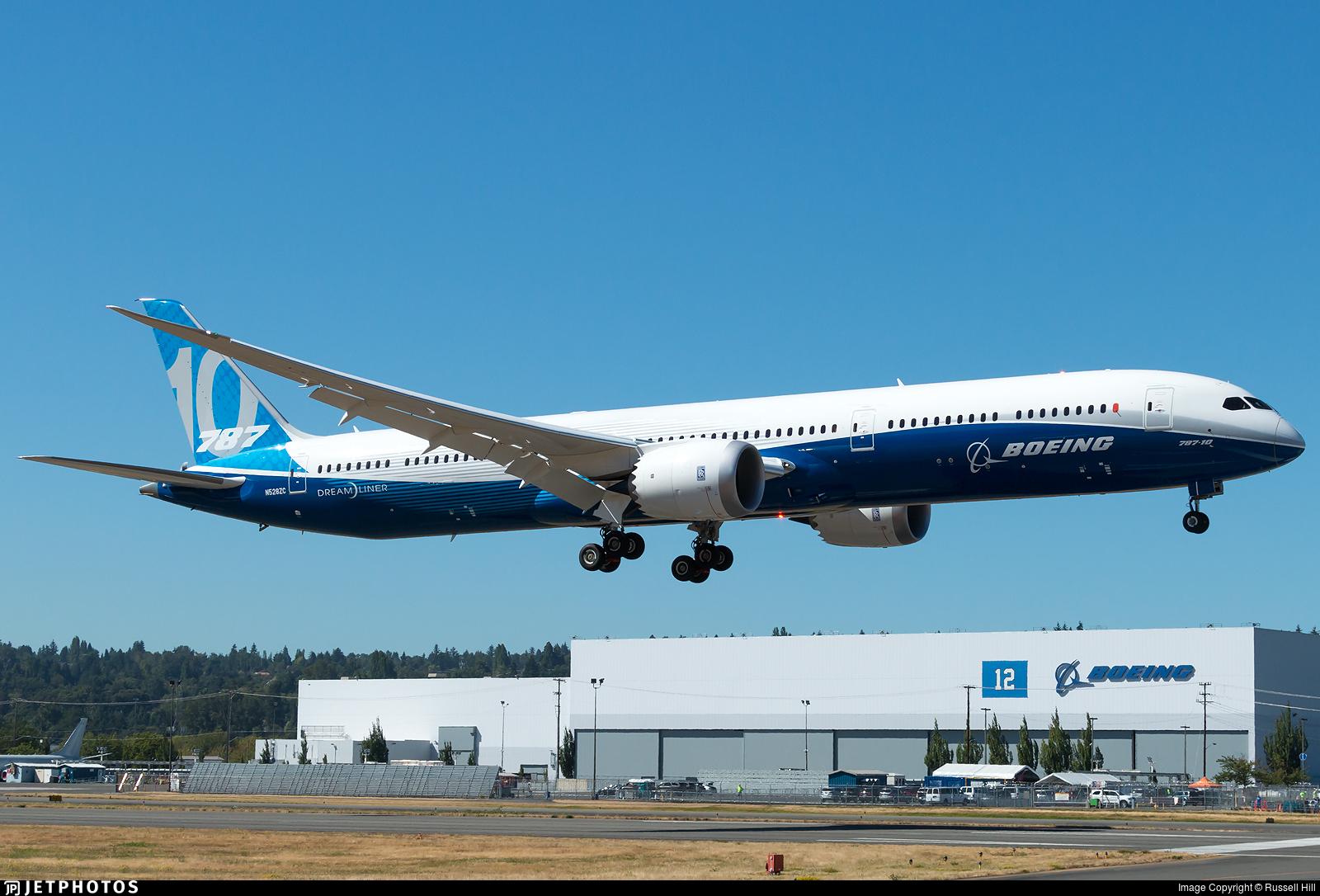 787 10 Dreamliner >> N528zc Boeing 787 10 Dreamliner Boeing Company Russell Hill