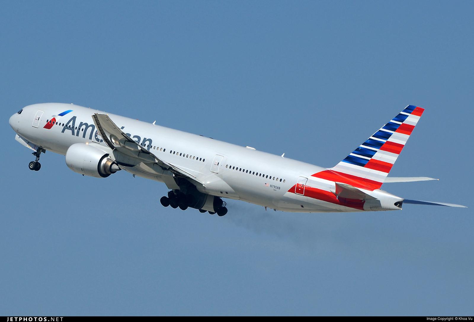 N790an Boeing 777 223 Er American Airlines Khoa Vu