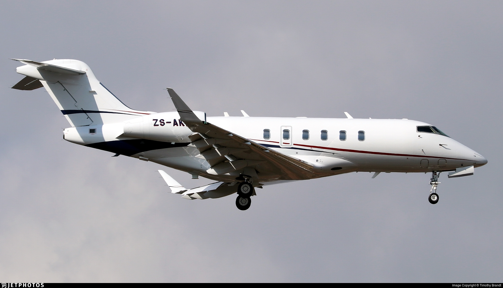 ZS-AKF - Bombardier BD-100-1A10 Challenger 350 - Private