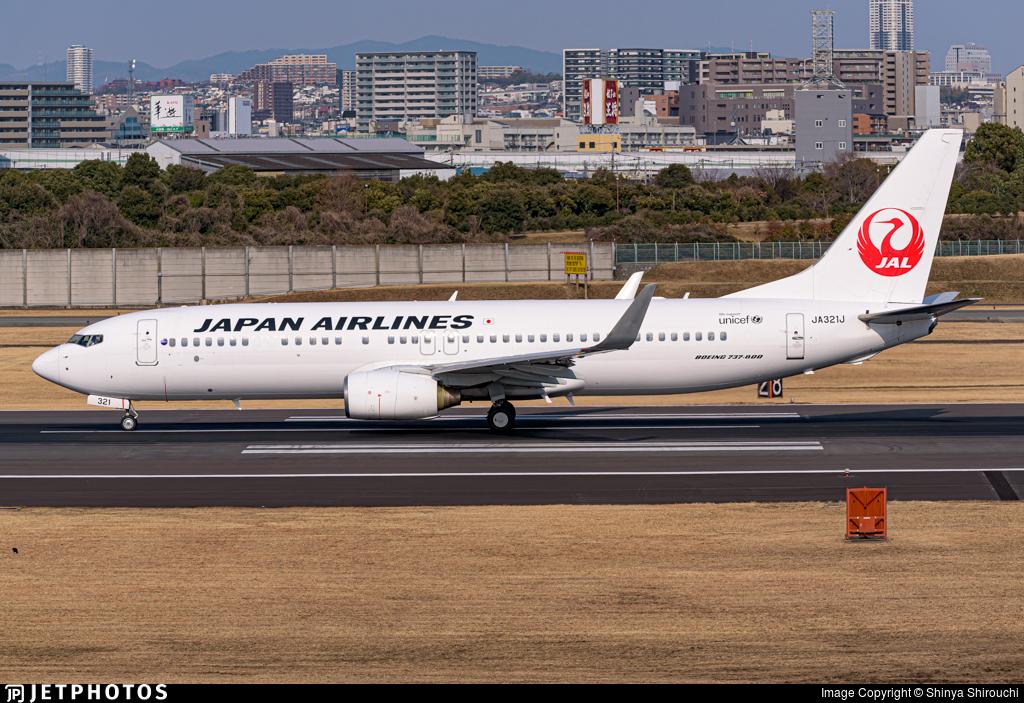 JA321J - Boeing 737-846 - Japan Airlines (JAL)