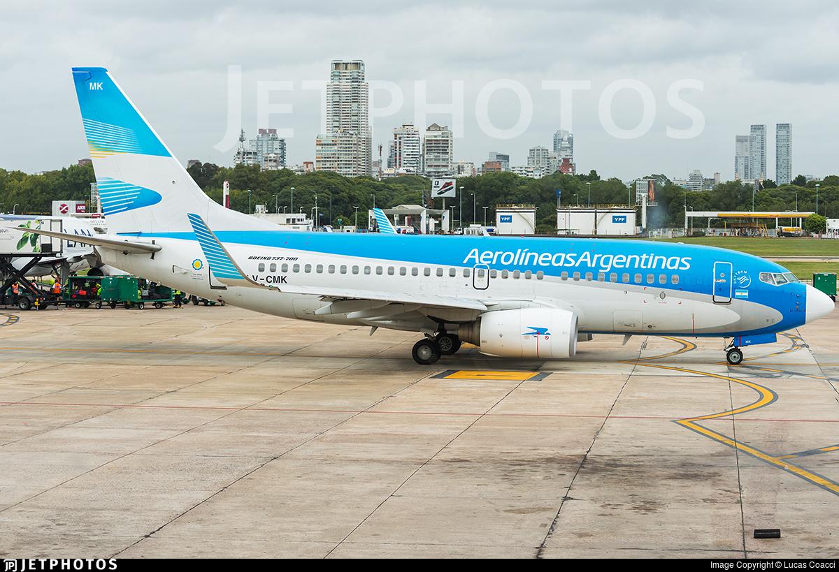 LV-CMK - Boeing 737-7Q8 - Aerolíneas Argentinas
