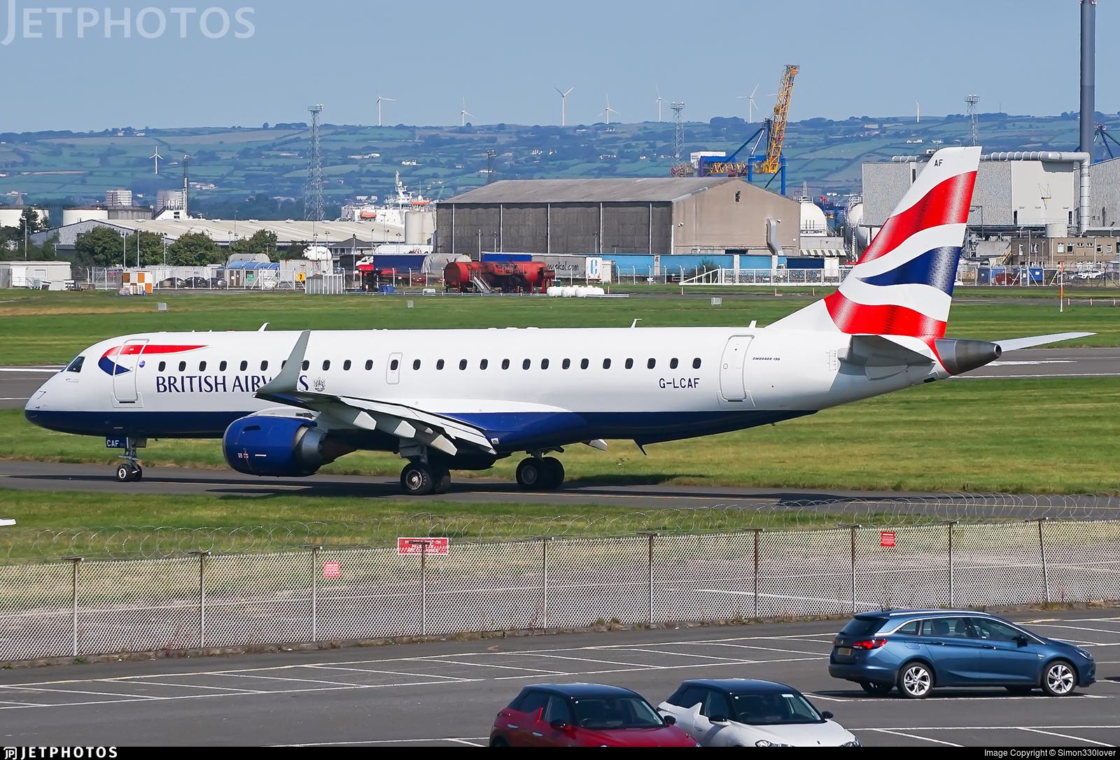 G-LCAF - Embraer 190-100SR - BA CityFlyer