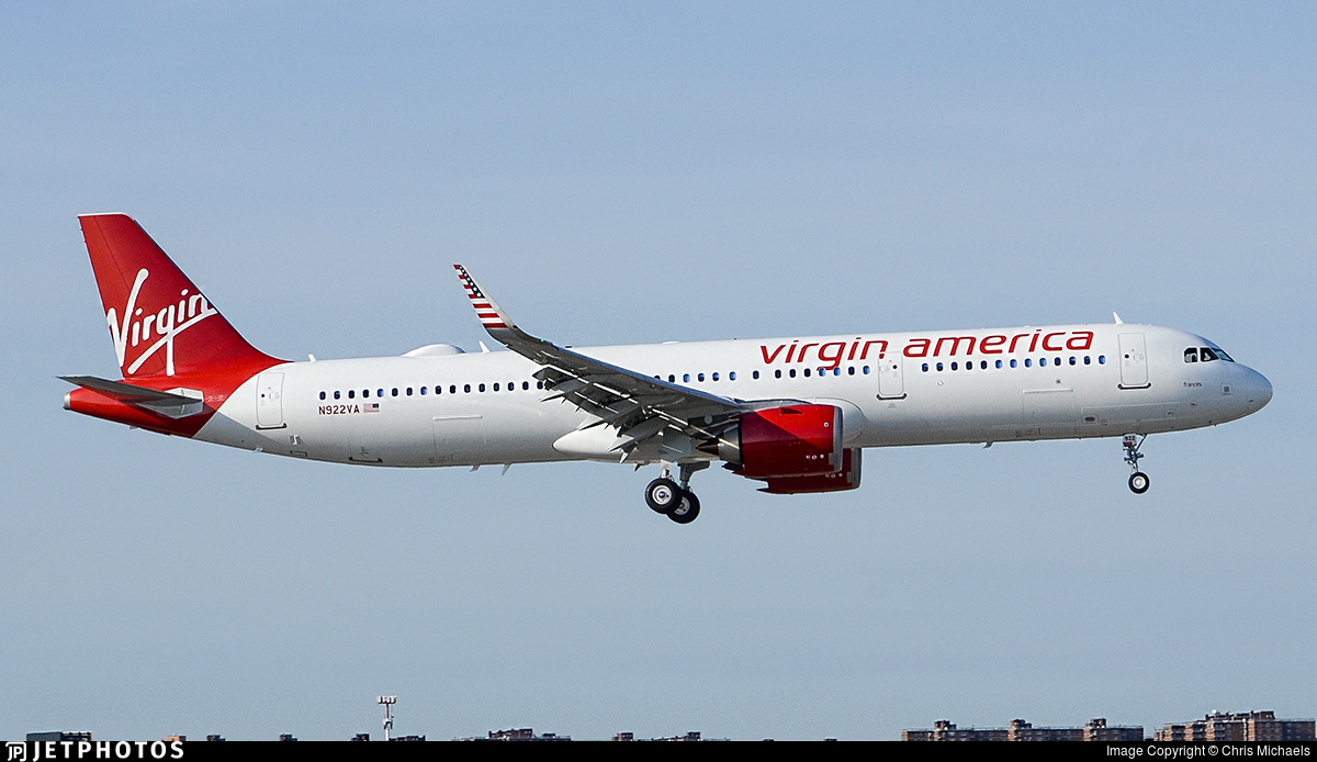 N922va airbus a321 253n virgin america chris for Virgin america a321neo cabin