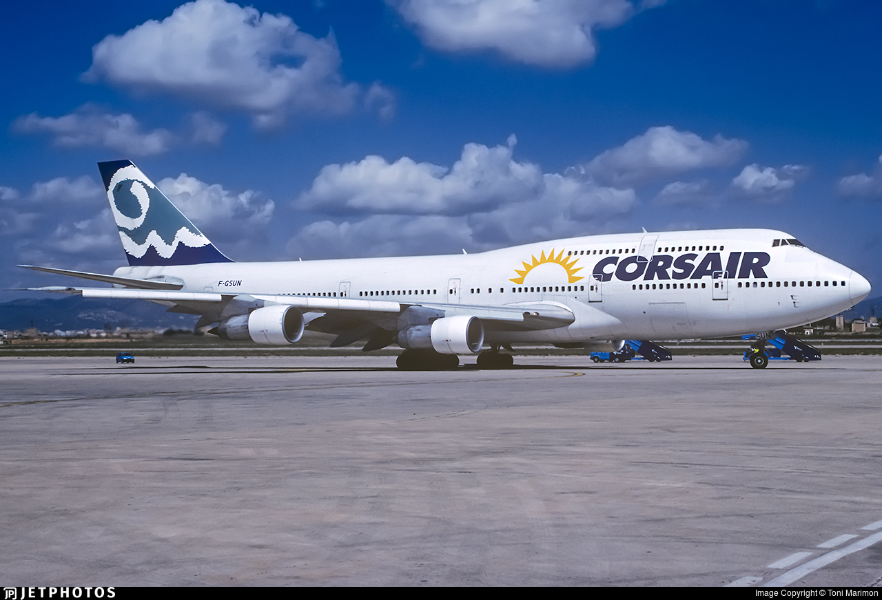F-GSUN - Boeing 747-312 - Corsair
