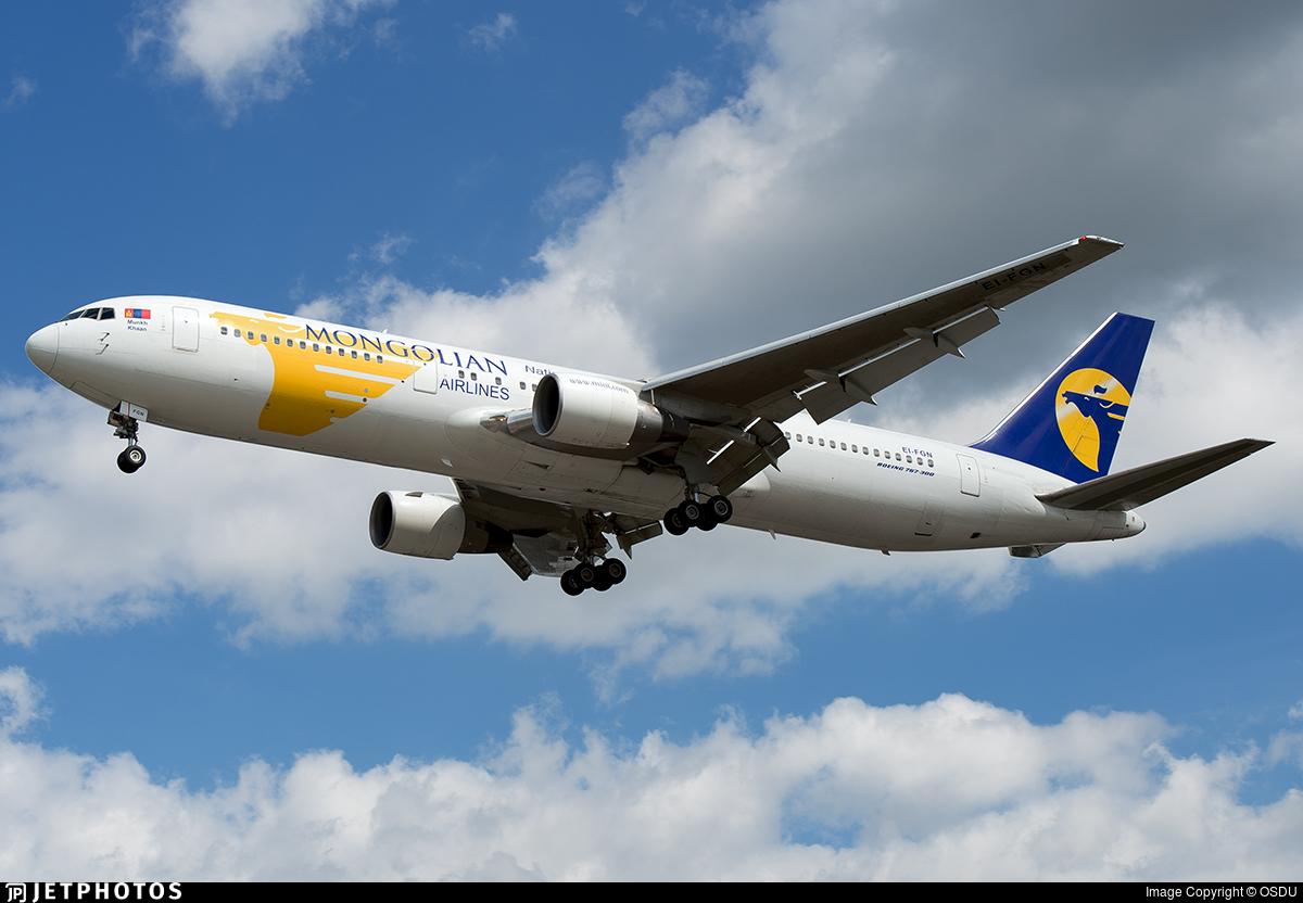 EI-FGN - Boeing 767-3BG(ER) - MIAT Mongolian Airlines