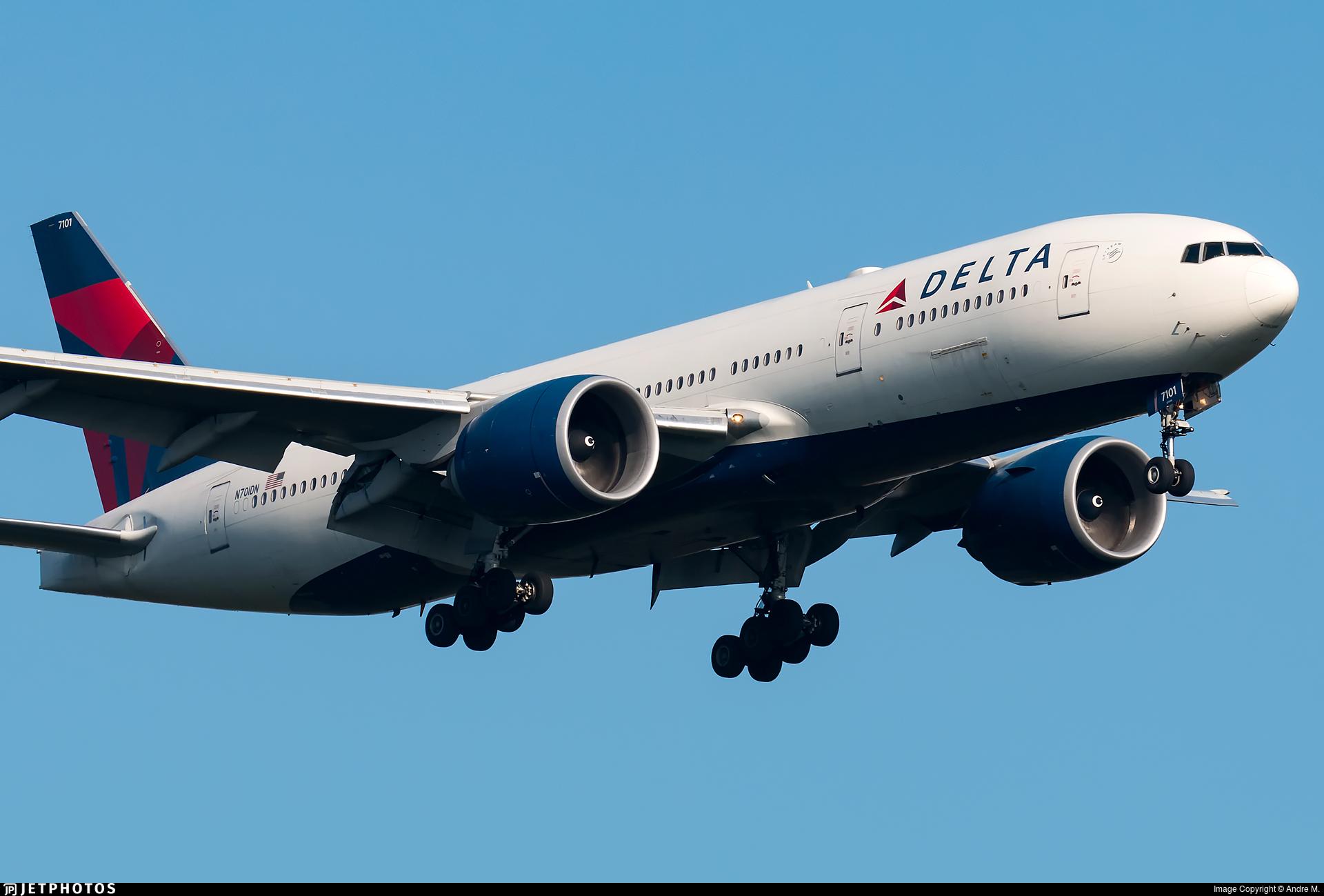 N701DN - Boeing 777-232LR - Delta Air Lines