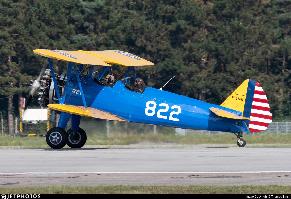 N351AH - Boeing A75N1 Stearman - Private