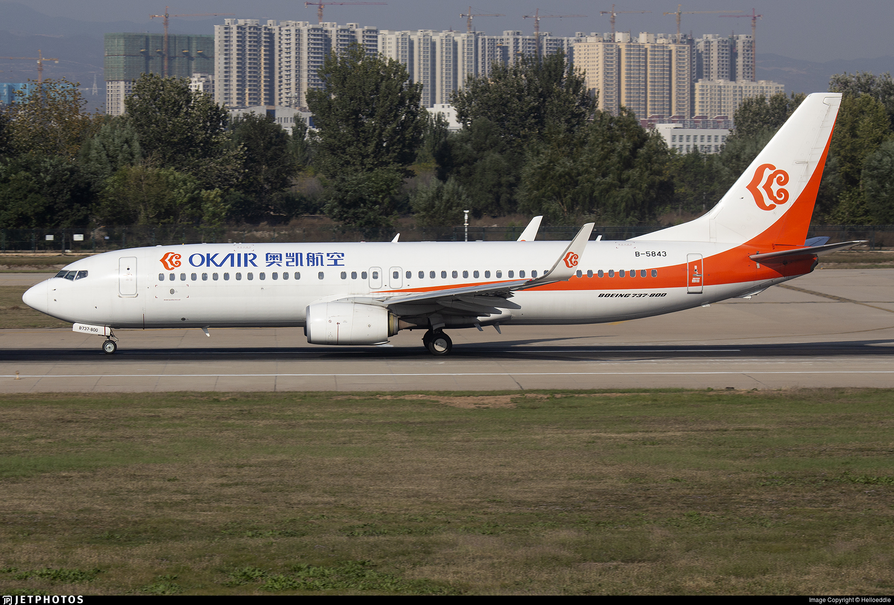 B-5843 - Boeing 737-86N - OK Air
