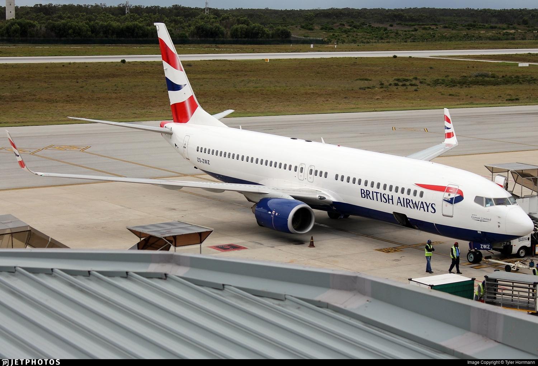 ZS-ZWZ - Boeing 737-8KN - British Airways (Comair)