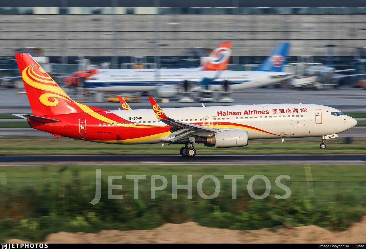B-5346 - Boeing 737-8BK - Hainan Airlines