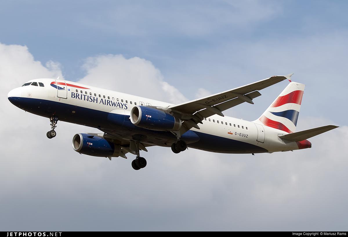 G-EUUZ - Airbus A320-232 - British Airways