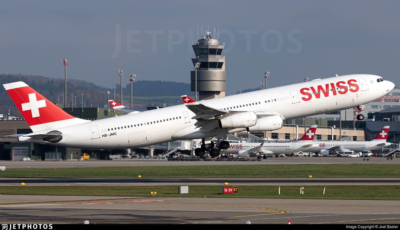 HB-JMC - Airbus A340-313X - Swiss