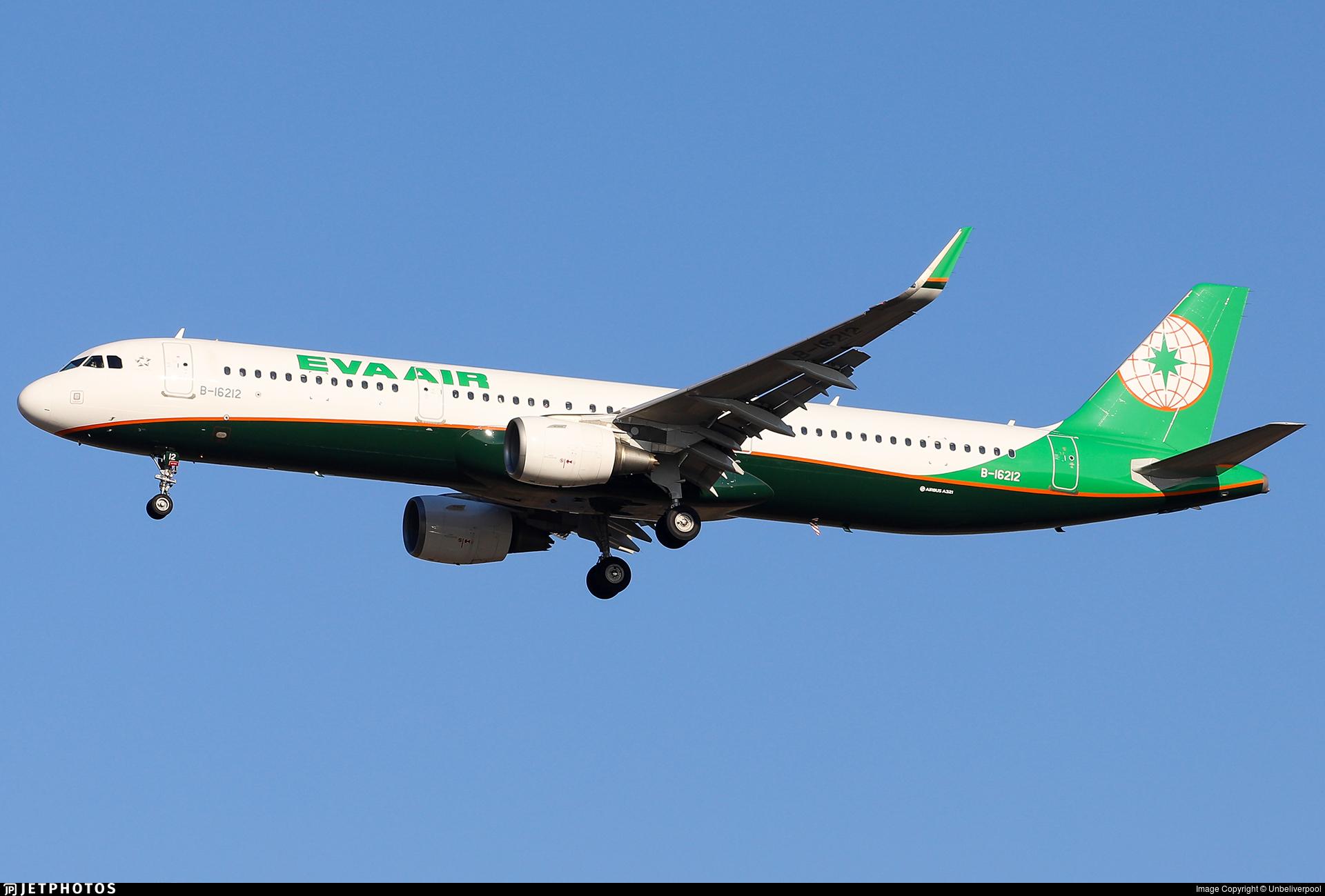 B-16212 - Airbus A321-211 - Eva Air