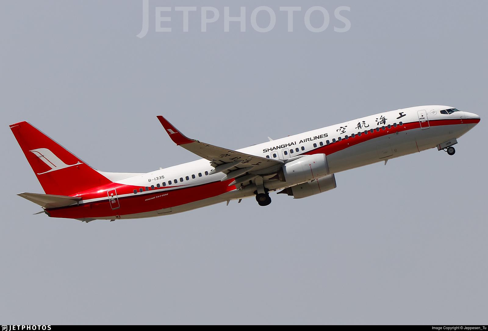 B-1335 - Boeing 737-89P - Shanghai Airlines