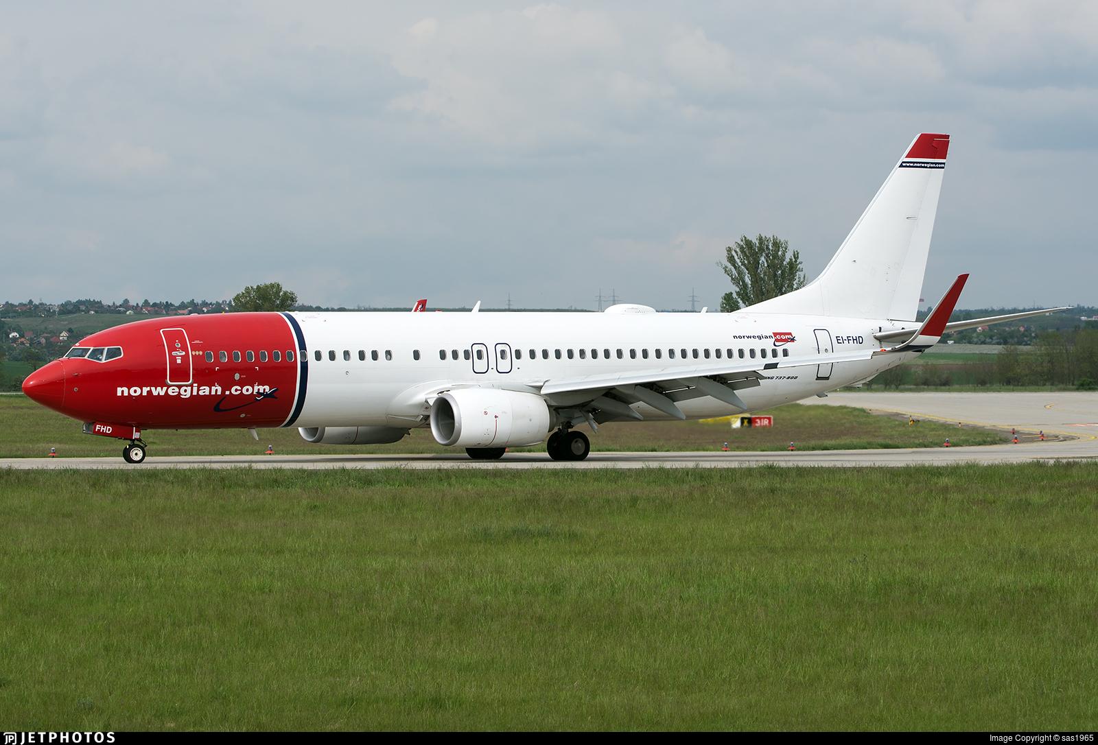 EI-FHD - Boeing 737-8JP - Norwegian