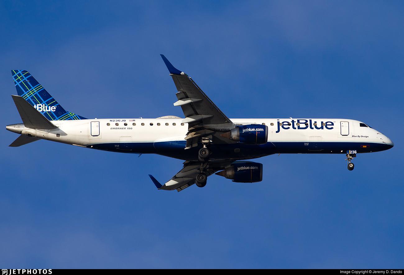 N236JB - Embraer 190-100IGW - jetBlue Airways