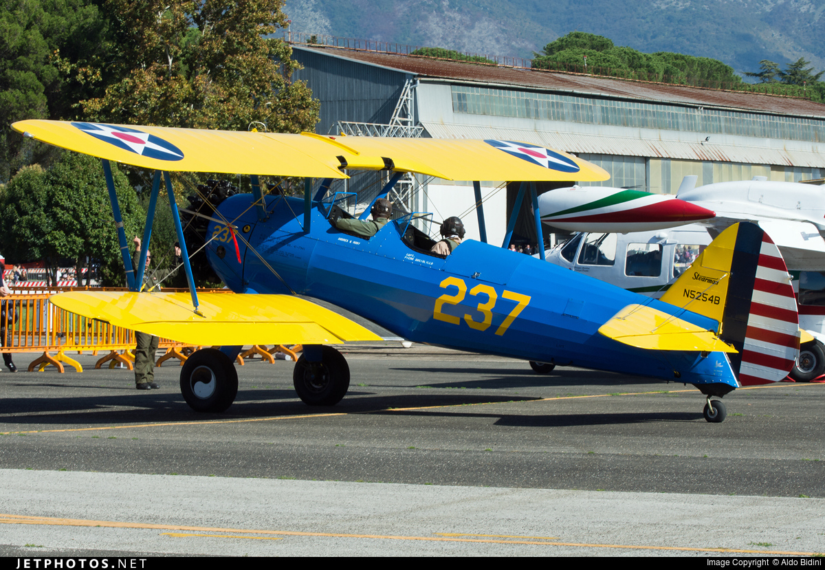N5254B - Boeing A75N1 Stearman - Private
