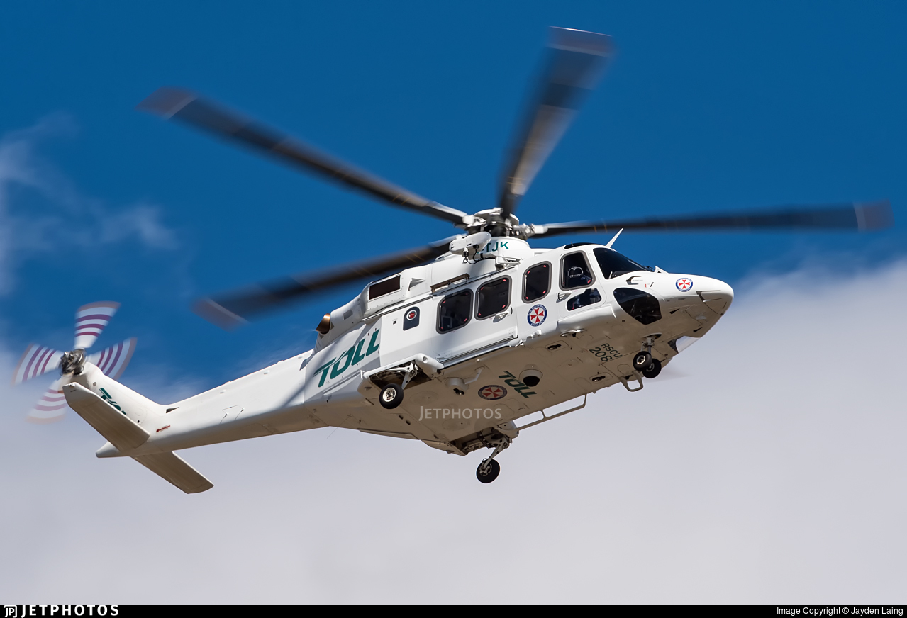 VH-TJK | Agusta-Westland AW-139 | Toll Helicopters NSW | Jayden