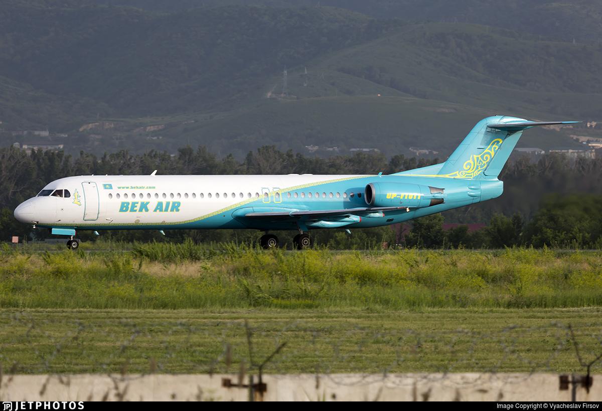 UP-F1011 - Fokker 100 - Bek Air