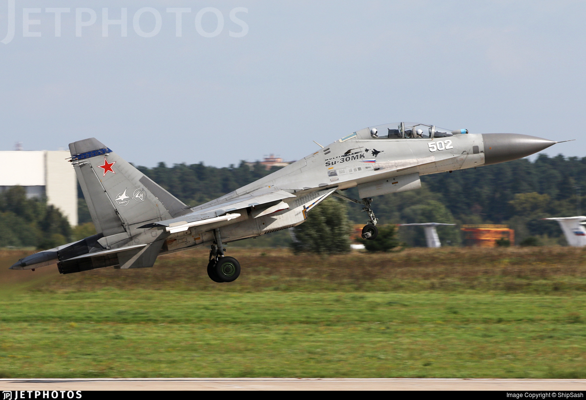502 - Sukhoi Su-30MKK - Russia - Air Force