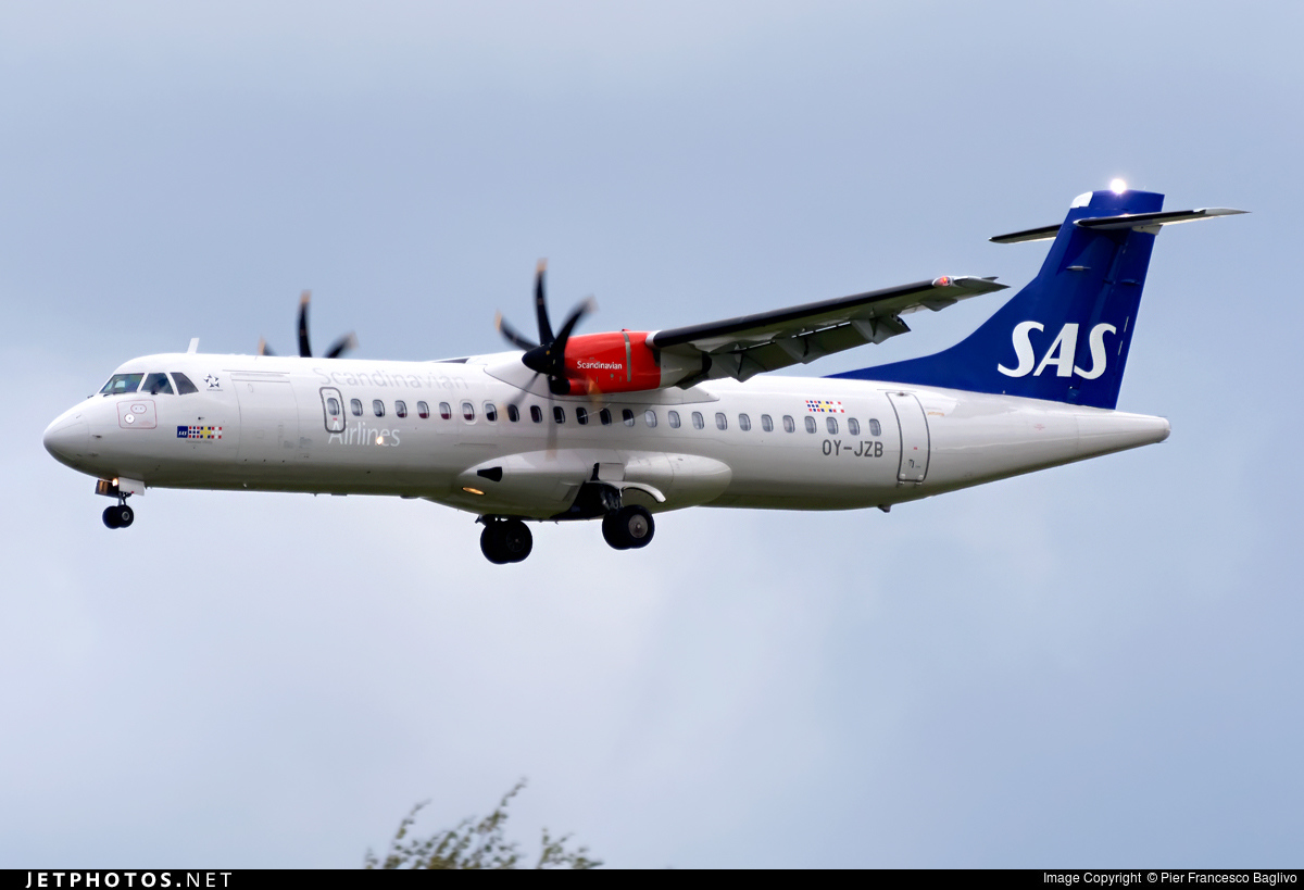 OY-JZB - ATR 72-212A(600) - Scandinavian Airlines (Jettime)