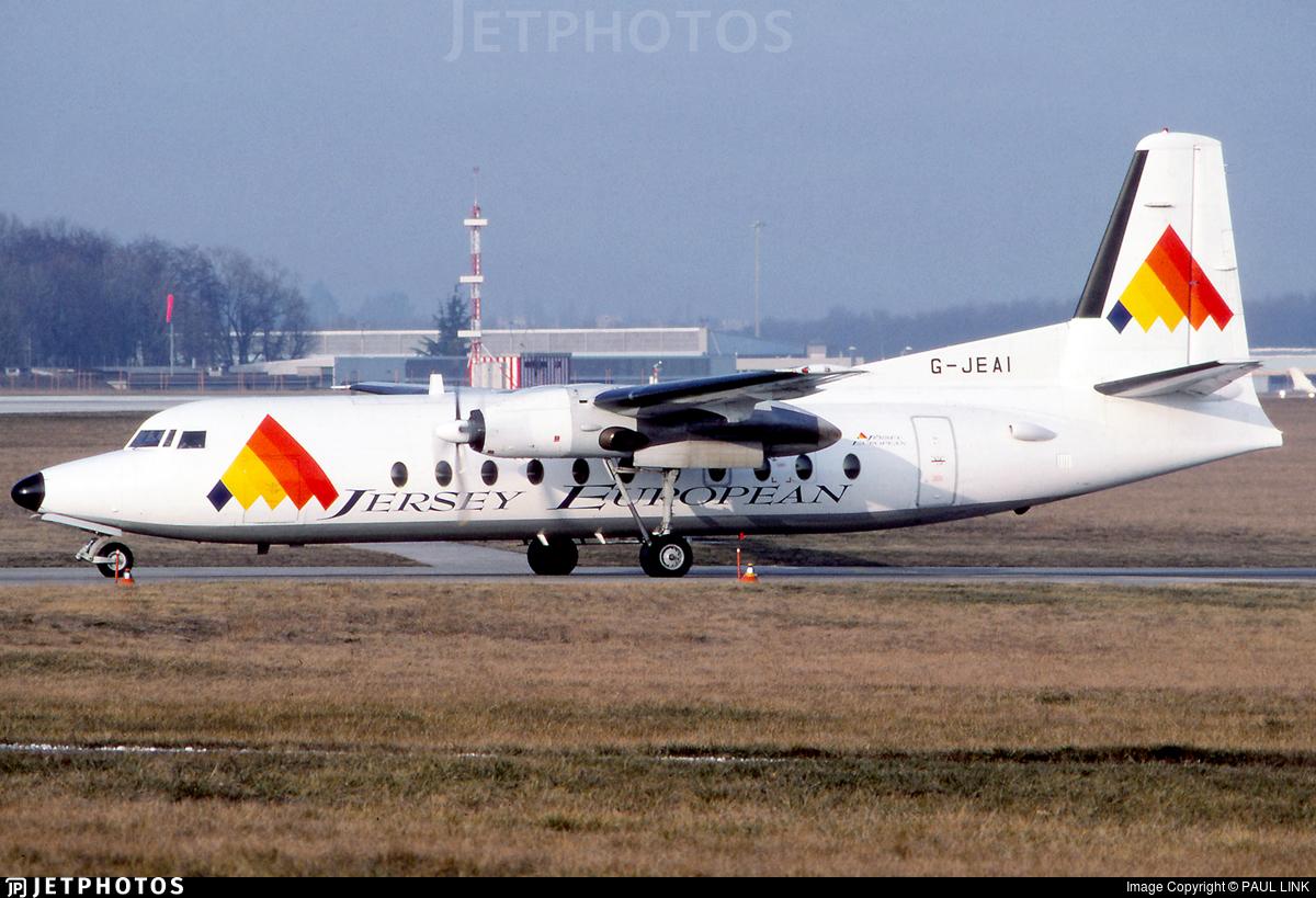 G-JEAI - Fokker F27-500 Friendship - Jersey European Airways