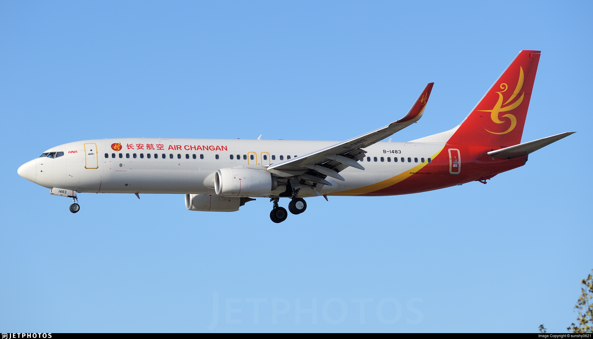 B-1483 - Boeing 737-8EH - Air Changan