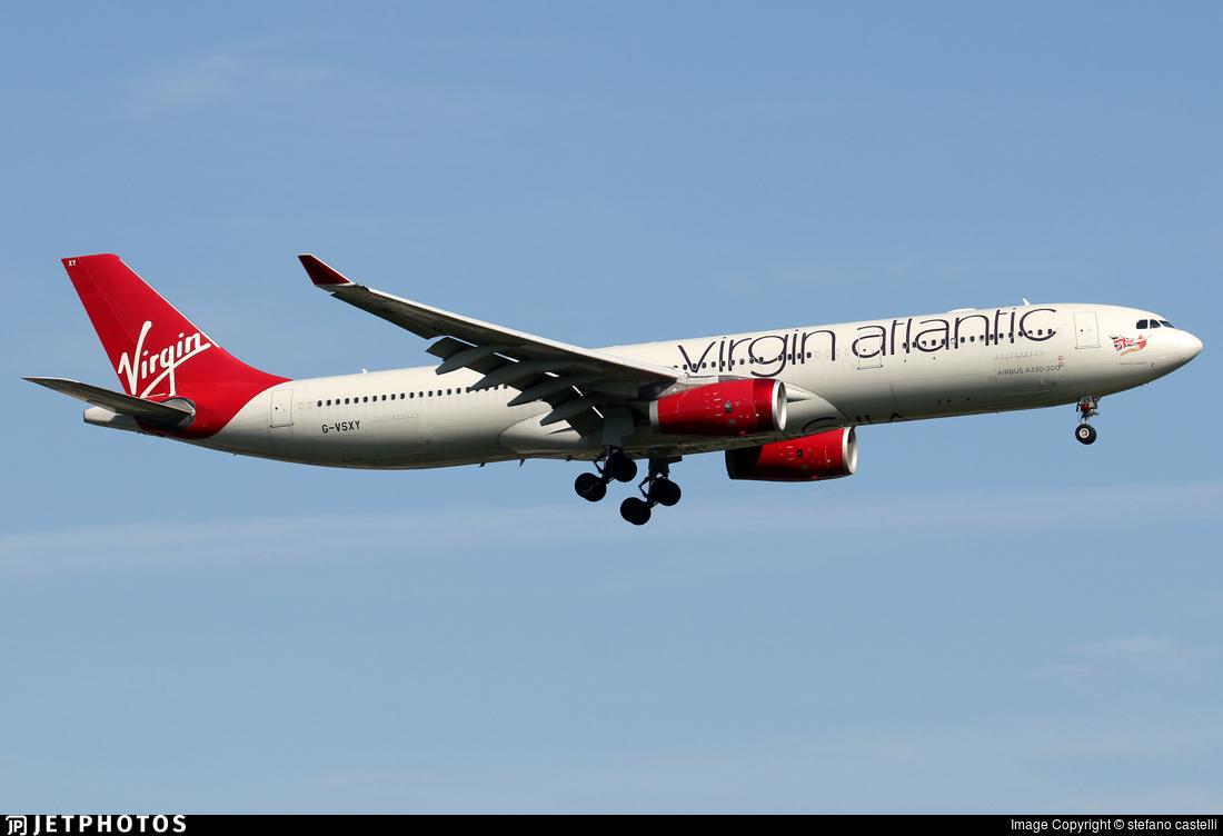 G-VSXY | Airbus A330-343 | Virgin Atlantic Airways | stefano