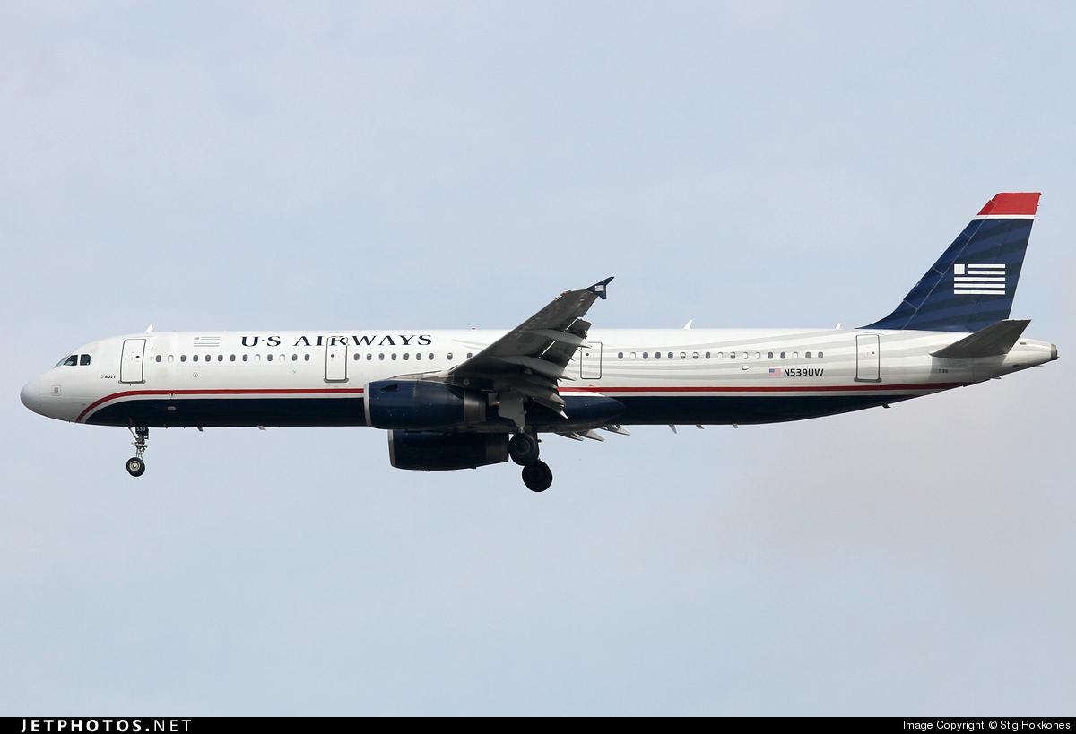 N539UW - Airbus A321-231 - US Airways