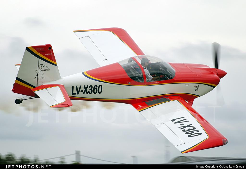 LV-X360 - Vans RV-7 - Private
