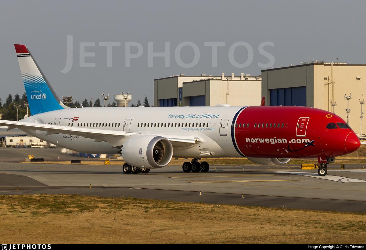 G-CKLZ - Boeing 787-9 Dreamliner - Norwegian