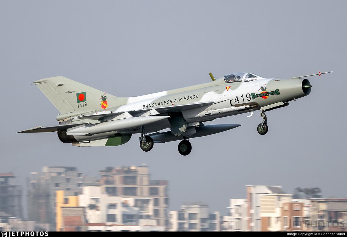 1419 - Chengdu F-7MB - Bangladesh - Air Force