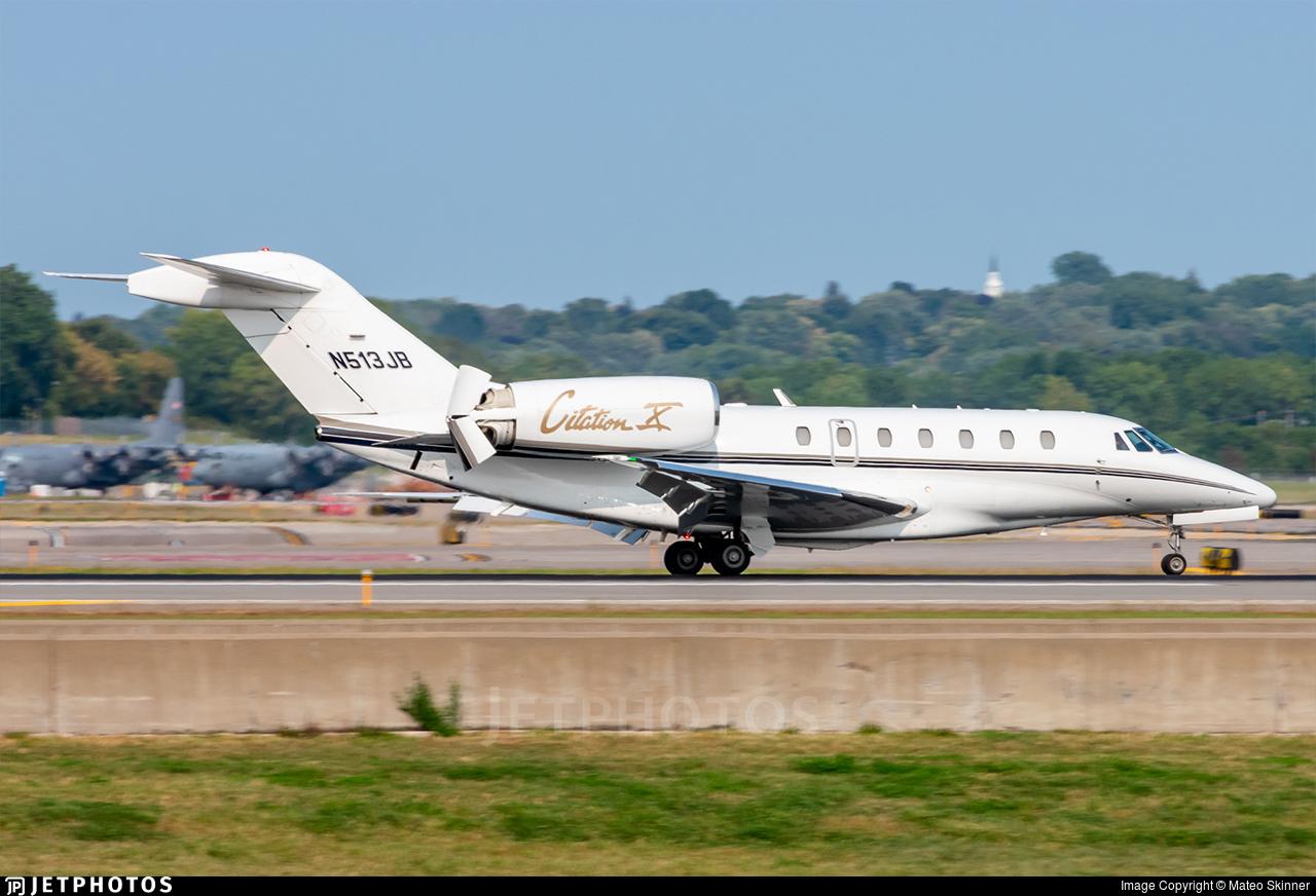N513JB - Cessna 750 Citation X - Private