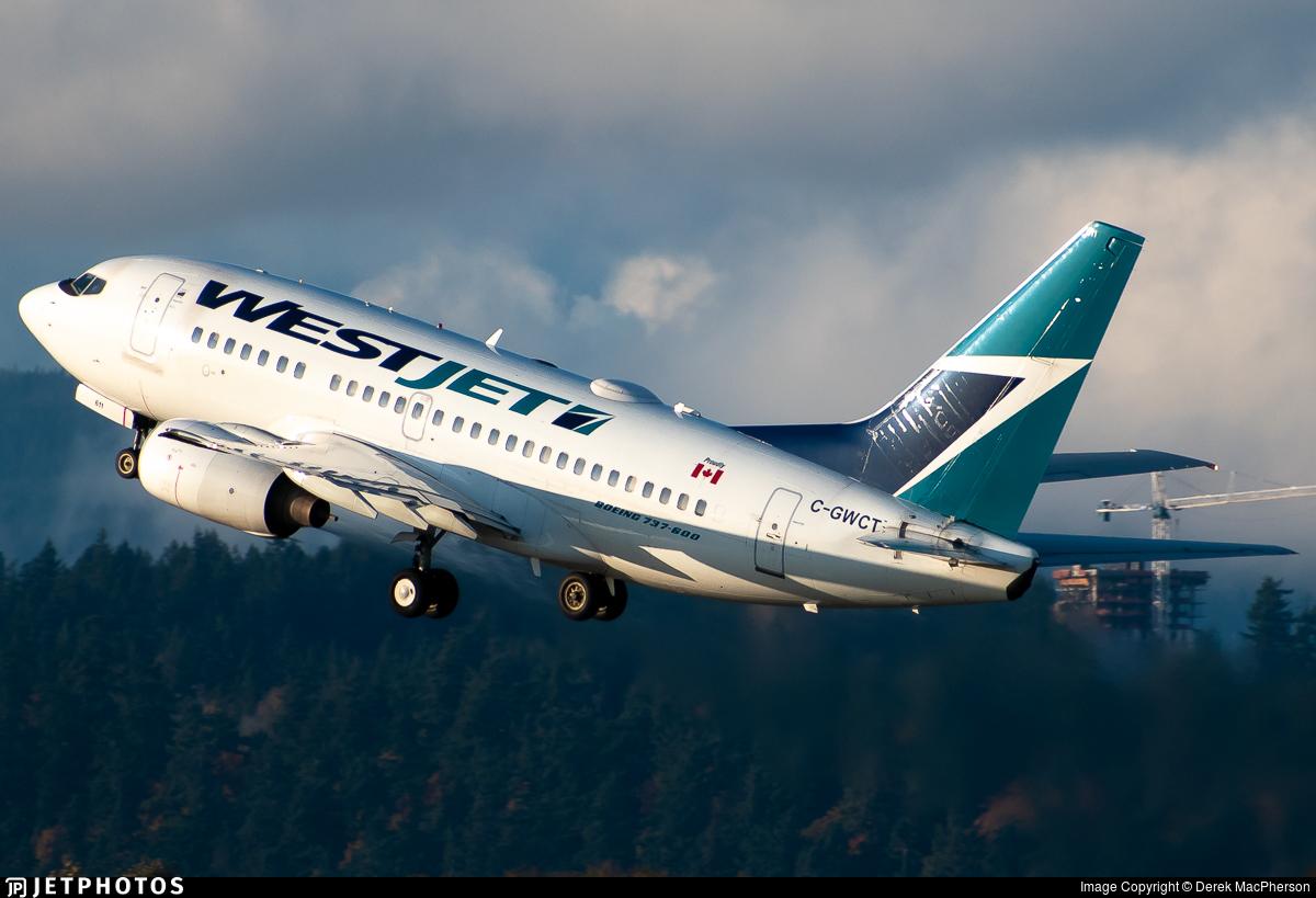 C-GWCT - Boeing 737-6CT - WestJet Airlines
