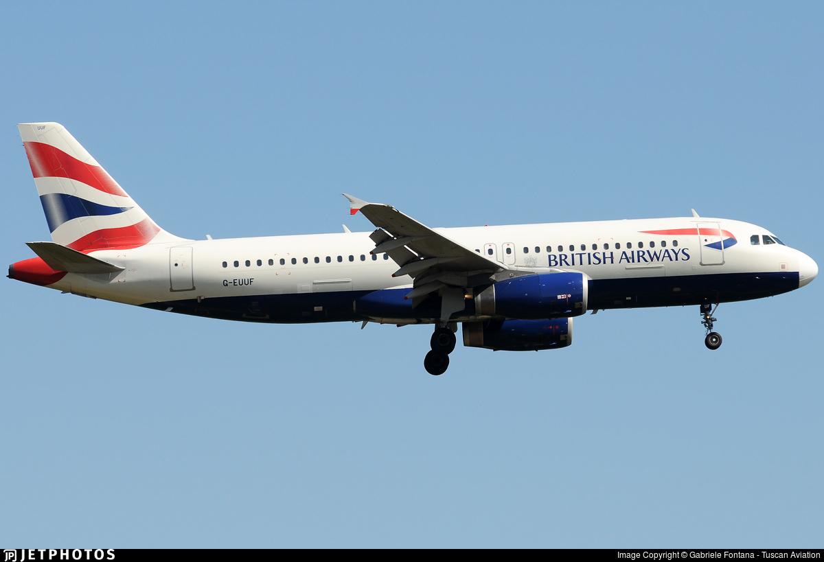 G-EUUF - Airbus A320-232 - British Airways