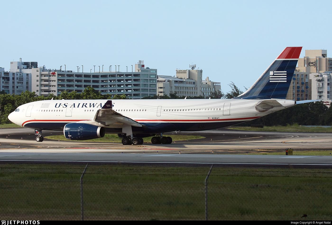 N281AY - Airbus A330-243 - US Airways