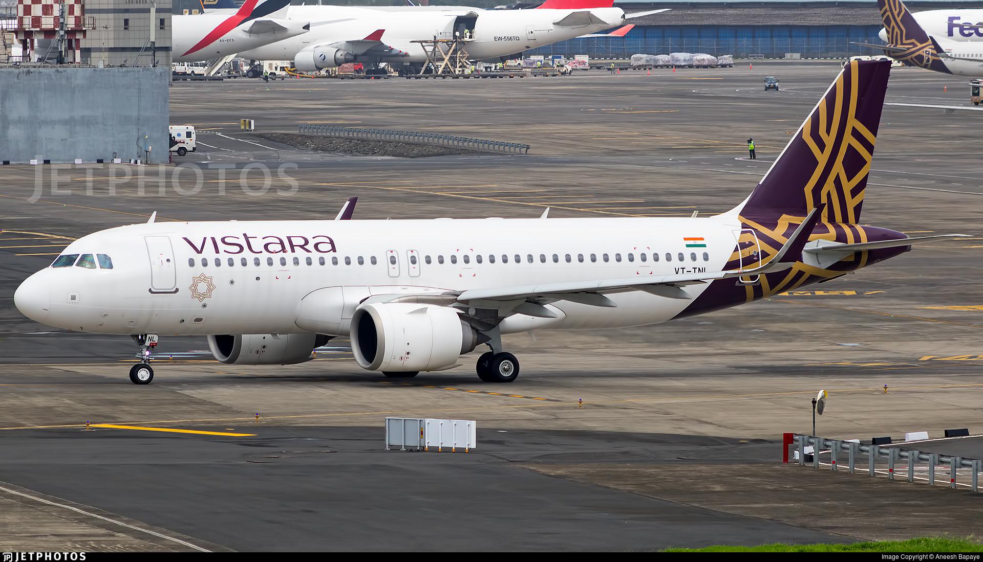 VT-TNL - Airbus A320-251N - Vistara