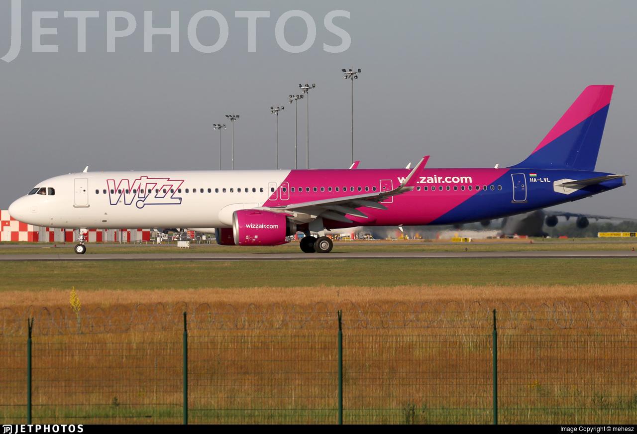 HA-LVL - Airbus A321-271NX - Wizz Air